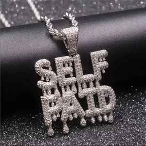 925 Sterling silver and rhinestone necklace